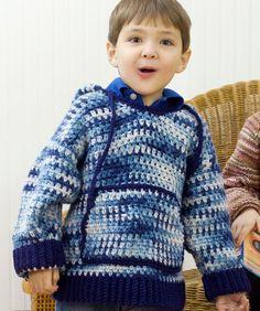 Kid's Hooded Sweatshirt - Free Crochet Pattern