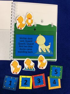 $ Five Little Ducks Flip Book for Preschool and Kindergarten. Interactive pieces keep kids engaged!