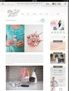 Blog design I like