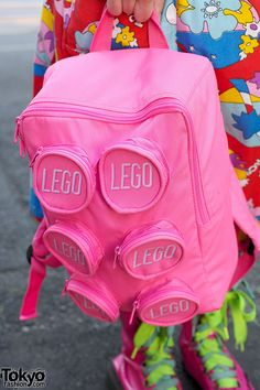 "Pink LEGO Backpack of an Harajuku Girl - If you ♥ LEGO, come have a look at LEGO LOVE board http://pinterest.com/almaisoncloud9/lego-love/ - I am the French-Israeli designer of ""Mademoiselle Alma"". Inspired by my daughter, ALMA, I create Jewelry made from LEGO bricks, SWAROVSKI crystals and of course, a great amount of imagination. *** http://www.facebook.com/MademoiselleAlma Hope you LIKE my Facebook page-shop ♥ & http://www.etsy.com/shop /MademoiselleAlma #lLEGO"