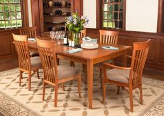 Our high-end, handmade Classic Shaker Dining Table features clean, straight lines and smooth, taper legs that look elegant in any setting. This classic design, combined with sustainably harvested, solid wood construction make this table a responsible and classy choice for your home.