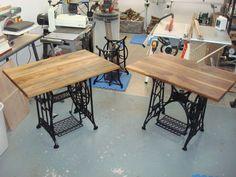 Old Treadle Sewing Machine Desks sewing machines, machin project, treadl sew, office sewing machine, machin tabl, grandma sew, sew machin, computer desks, sewing machine desk
