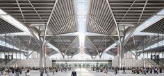 Von Gerkan, Marg and Partners (gmp) win the 1st prize for the international design competition for the Tianjin Exhibition Centre. Check out the entire proposal here:  http://www.archello.com/en/project/national-convention-and-exhibition-centre  #Architecture #Glass