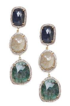 earrings - that teal part is so pretty