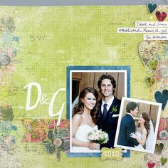 Wedding Nancy O'Dell Love Additions Scrapbook Layout Idea Page