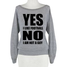 Yes, I am a girl who likes football. Break the stereotype with this sassy, sporty shirt! Perfect to wear for football season! Girls Like Football Too