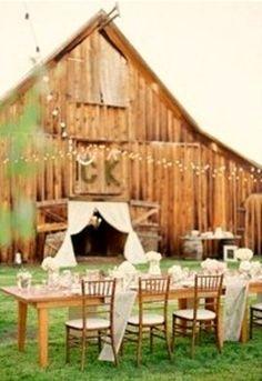 dinner, barn dance