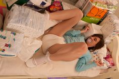 great collection of diapers for this adult-baby girl (abdl)