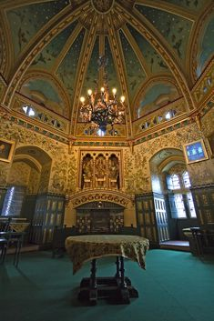 The Gothic interiors of 19th century Gothic Revival Castle Coch are breathtaking. Wales