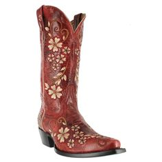 """Shyanne® Women's 12"""" Embroidered Clover Flower Western Boots"""