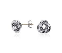 We Love These Love Knot Earrings in Sterling Silver | #Jewelry #Style #Fashion