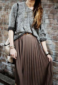 woman fashion, pleat, style, fashion outfits, maxis, long skirts, oversized sweaters, winter dresses, maxi skirts