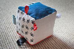 Sensory soft toy  Baby cube  Little pirate model by CUTIFULbaby, $15.00