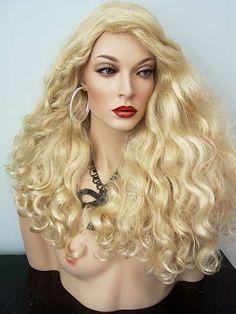 Nirvana Ritanna Full Drag Wig, Pale Blonde