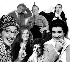 SCTV-Andrea Martin, Dave Thomas, Martin Short, Joe Flaherty, Eugene Levy, Harold Ramis & Catherine O'Hara