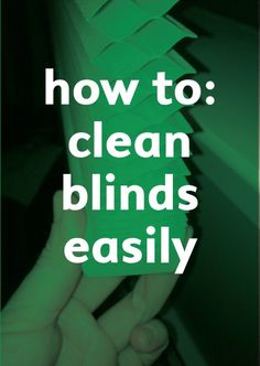 Clean up dirty, gooey blinds with this simple tutorial.