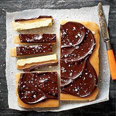 Chocolate-Caramel Shortbread Bars   MyRecipes.com