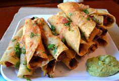 Guy Fieri Recipe | Chicken Taquitos - veganized
