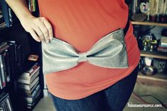 I. want. this. so. bad!!! its a glitter bow fanny pack!