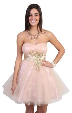two tone strapless mesh #prom party #dress with #sequin detail  $74.50