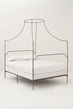 Italian Campaign Canopy Bed #anthropologie
