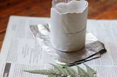 Poppytalk: DIY | Fern-Pressed Jar