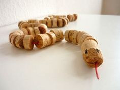wines, kids diy, wine corks, drink, candies, toys, craft ideas, snakes, crafts