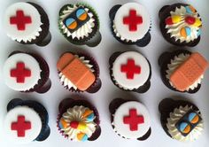 medical theme cupcakes