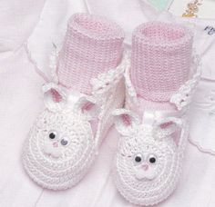 Holiday Baby Booties Crochet Patterns
