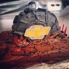 tire cake, birthday parti, chevy cake, mud tire, 16th birthday, birthday cakes