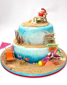What a perfect summer themed birthday cake. We love it!