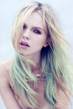 dip dye hair wauw.