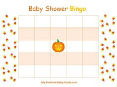 Free Printable #Halloween #Baby #Shower  Blank Bingo Cards. Visit this page for more printable games,ideas and tips.