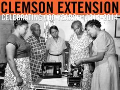 Home demonstration agents held sewing machine clinics to teach operation and care of the sewing machine. 1954 Extension Annual Report. Image courtesy of Clemson University Special Collections. #ClemsonExt100