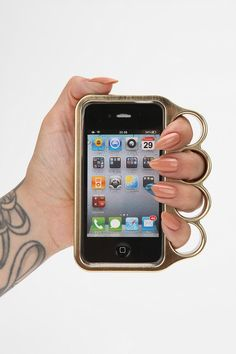Brass Knuckle iPhone Case Online Only
