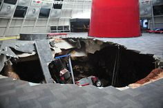 See the surveillance video | No repair timetable for National Corvette Museum sink hole