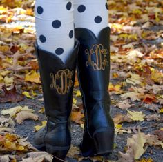 Marley Lilly Monogrammed Cowboy Boots!