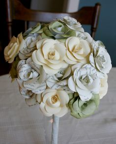 wedding bouquet with paper