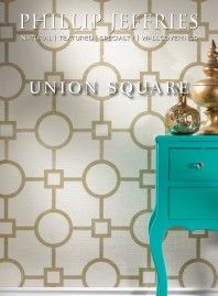Union Square wallpaper in Gold on White by Phillip Jeffries 2013