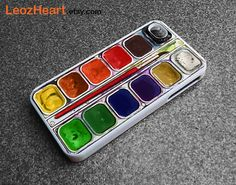 Art case, Watercolor set iPhone case, paint iphone, iphone 4 case iPhone 4s case, Phone4 Cover, apple case, personalized iphone case