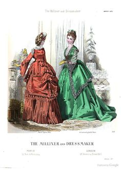 The Milliner and Dressmaker, March 1870.
