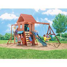 TRU $799 Ridgeview Clubhouse Wood Gym Set