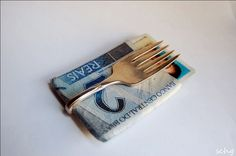 Money clip. (ouch?) Neat idea.