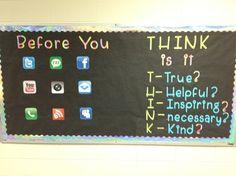 social media awareness... what an awesome corkboard idea