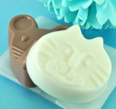 Kids Soaps  Cat and Mouse  Goats Milk Soap Set  от LostRiverRags, $4.50