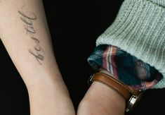 """Be Still"" tattoo - Ps. 46:10 (photo from Bruce of Love Made Visible)"
