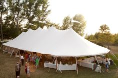 Real Door County Wedding ~ Photography by Michael Segal. Tent: Sperry