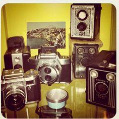 Bodegón de cámaras del siglo pasado