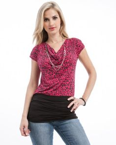 Mod 20 Women's Cheetah Banded Tunic Top « Clothing Impulse