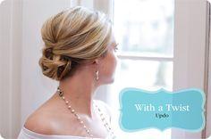 wedding hair - twisted up-do